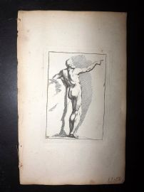 Sayer Compleat Drawing-Book 1757 Antique Print. Study of Body 46 Nudes